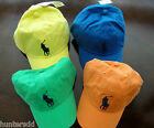 NWT Ralph Lauren Polo Boys Classic Chino Big Pony Hat Cap Fits Sz 4 5 6 7 NEW 3g