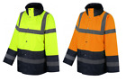 UCI VIZWELL Hi Vis Viz 2 Tone Contrast Waterproof Safety Traffic Jacket Coat