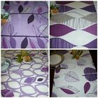 "Purple Table Runner Grape Grey Funky Retro Coffee Overlay 54"" x 15"""