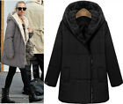 Fashion Womens Ladies Faux Fur Hooded Warm Coats Jackets Thick Winter Outwear