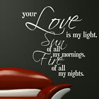 LOVE IS MY LIGHT Vinyl motivational wall art sticker quote transfer graphic DAQ2