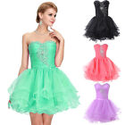 GK Homecoming Voile Short Ball Gown Wedding Formal Prom Evening Party Mini Dress