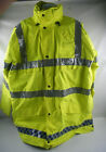 Ex Police Hi Vis Waterproof Jacket Gore-Tex Anorak Emergency Safety Marshall