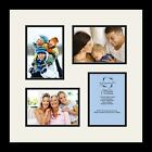 Satin Black Collage Picture Frame with 4 - 5x7 opening(s), Double Matted
