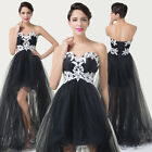 Vintage Retro Style Cocktail Dress LONG EVENING PROM PARTY DRESSES GOWNS Black