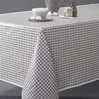 Country Style New Table Cloth- Taupe Gingham- Tablecloth Assort. size New cotton