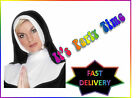 Ladies Nun Set Fancy Dress Instant Kit Ornate Cross Church Costume Outfit