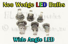 8x Neo Wedge LED Bulbs T3 T4 T5 White Blue Red Green Amber