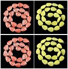 J60145 Carved Gemstone leaf loose beads 21pcs,More material & size to select