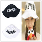 New Cotton Bucket Hat Baby Girl Embroidery Sun Hat Fishing Hunting Outdoor Cap