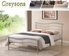 NEW Wave Metal Bed Frame Silver - 3ft Single / 4ft6 Double