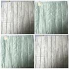 "SET OF 2 CREAM OR GREEN SQUARE STITCH DESIGN CUSHION COVERS 23"" x 23"" PADDED"