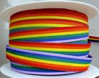 Rainbow Ribbon   3 Metre Long Choose From  10mm 25mm 35mm Width