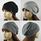 UNISEX SIDE RING SLOUCH COTTON BEANIE HAT #LHT214
