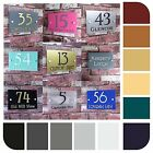Contemporary House Sign Door Number Address Plaque Modern Acrylic Rectangle