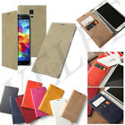 Galaxy Note 2 3 S4 S5 Wallet Case Pu-Leather Bill Card Folio cover Lock pouch
