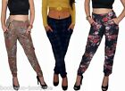 NEW WOMENS HAREM TAPERED RETRO FLORAL LOOSE TROUSERS CASUAL PANTS