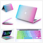 """2in1 Colorful Rubberized Case Keyboard Cover For Macbook Pro & Air 11""""13""""15""""inch"""