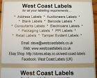 Printed Personalised Large White Address Labels - 76mm x 50mm