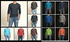 New Hollister by Abercrombie Men Fletcher Cove Long Sleeve Shirt Muscle Fit Size
