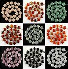 J60354 14mm Carved gemstone flower loose beads 27pcs,more material to select