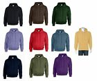 gildan pullover hooded sweatshirt hoodie blue black red honey violet brown navy