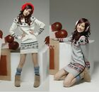 Fashion Womens Deer Pattern Long Sleeves Loose Pullover Sweater 2 Colors GBW