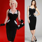Rockabilly Vintage Women Sexy Slim Bodycon Tunic Party Cocktail Pencil Dress Hot