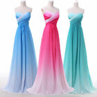 Colorful RAINBOW Evening Banquet Dancing Ball Party Prom Wedding Long Maxi Dress