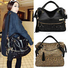 Woman Lady Tote Bag Large Zip Reusable Leopard Grab Handbag Diagonal Cross Body
