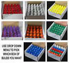 C7 5 Watt CERAMIC Replacement Christmas Holiday Light Bulbs 25 Count Per Box - C