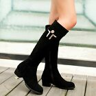NEW Gorgeous Womens Black Suede Cow Leather Heels Boots Sz 1-11.5(P119596)