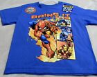 Spiderman XS-XL Bring It Blue With Spiderman And Friends On Front With Glitter