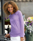 LADIES LONG SLEEVE CREW NECK SPORTSWEAR T-SHIRT (S-3XL) TOP B-3588