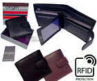 Mala RFID Quality Real Leather Wallet Coin Zip Photo Money Card Security Travel