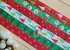 "7/8"",1""U pick CHRISTMAS Xmas Tree Snowman Grosgrain Ribbon hair Bow 50/100Yds"