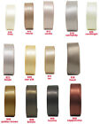 "5y 10y 25y 16mm 5/8"" Ivory Tan Cream Brown Coffee Double Sided Satin Ribbon Eco"