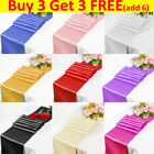 """12""""x108"""" inch Satin Table Runner Runners Chair Swags Wedding Party Decoration"""