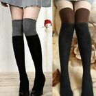 Fashion Lady Women Girl's Knit Over The Knee Thigh High Socks Stockings AB US