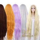 """39"""" Long Straight Blond / Brown / Black / Custom-made Lace Front Synthetic Wig"""