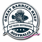 2 x Static Cling Stickers - Great Barrier Reef Australia Car Window Decal #0155