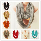 New Winter Warm Paillette Sparkly Solid Infinity Scarf Two Circle Colors