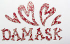 "Red or Black Damask Chipboard Alphabet Letter 64 pcs set 1.5"" stickers available"