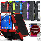 Sony Xperia Z3 Anti Shock Proof Stand Kickstand Builders Case