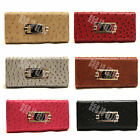 Ladies LYDC Designer Girls Womens Faxu Leather Ostrich Print Purses Wallets