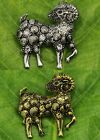 1 Pcs Silver/Gold Plated Goat Crystal Rhinestone Jewelry Brooch Pin Breastpin