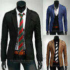 New Stylish Designed Mens Slim Fit Two Button Casual Business Blazer Jacket Coat