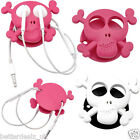 Earphone Skull Holder Headphones Wire Organizer Cable Cord Wraper Earbud Winder