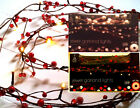 New Red/gold Jewel Garland Lights/ Christmas Decoration/berries/table/fireplace