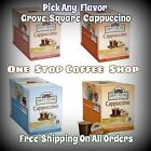Grove Square Cappuccino Single Serve Cup for Keurig K-Cup Brewer- Choose Flavor